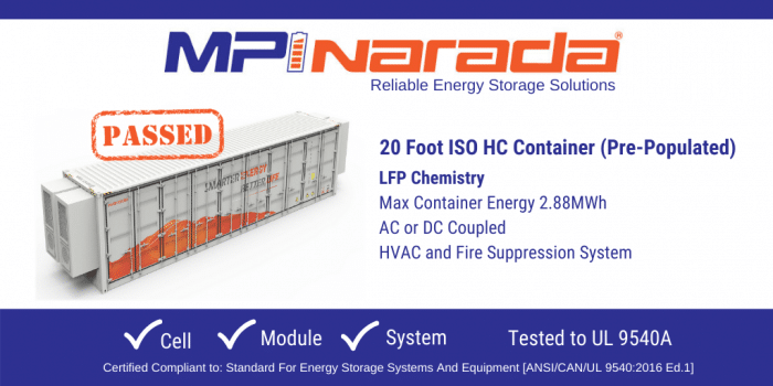 Graphic Showing MPINarada's 20 Foot ISO HC Container