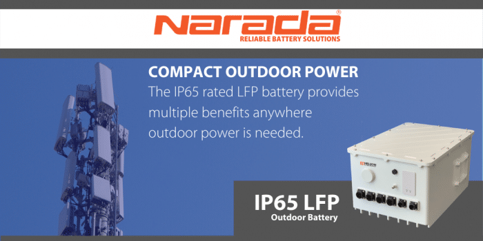 Compact Outdoor Power:  The IP65 rated LFP battery provides multiple benefits anywhere outdoor power is needed.